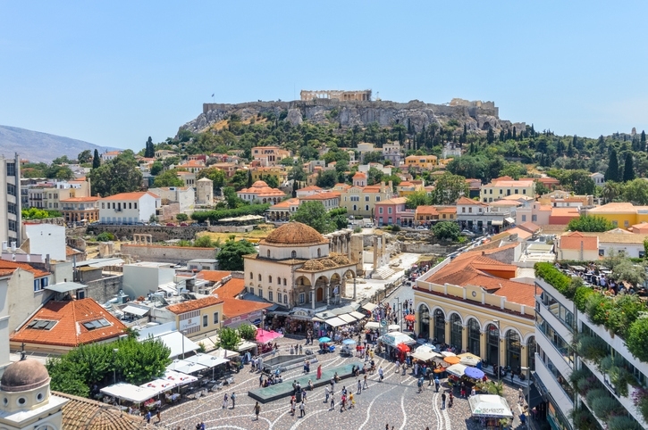Getty Monastiraki Square in Athens Greece stock photo